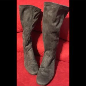 George Faux Leather Gray Leather Boots Size 9 1/2